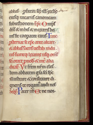 The Ordination of an Abbot, in a Pontifical from St Mungo's